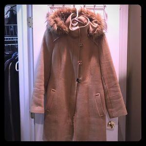 Calvin Klein tan wool coat